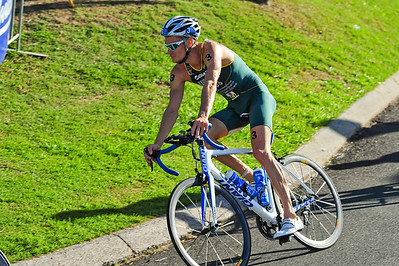 Brad Kahlefeldt, who finished strongly to win the event - Mooloolaba Men's ITU World Cup Triathlon, 27 March 2010. (Brad also subsequently won the event in 2011.)