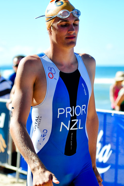 William Prior - 2010 Mooloolaba Men's ITU World Cup Triathlon, Sunshine Coast, Queensland, Australia; 27 March 2010. Photos by Des Thureson.