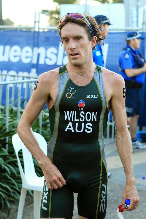 Relief, Rest - Dan Wilson - Mooloolaba Men's ITU World Cup Triathlon, 27 March 2010
