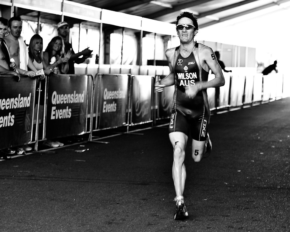 Alternate Processing - Kodak Panatomic X -Exp 1986 Curve - Dan Wilson - 2010 Mooloolaba Men's ITU World Cup Triathlon, Sunshine Coast, Queensland, Australia; 27 March 2010. Photos by Des Thureson.