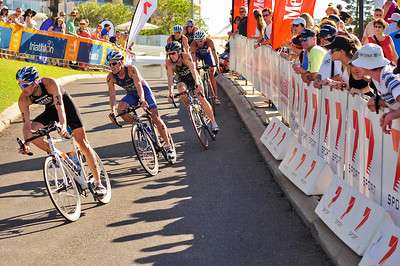 Stuart Hayes, Courtney Atkinson, Dan Wilson, David Hauss - Mooloolaba Men's ITU World Cup Triathlon, 27 March 2010
