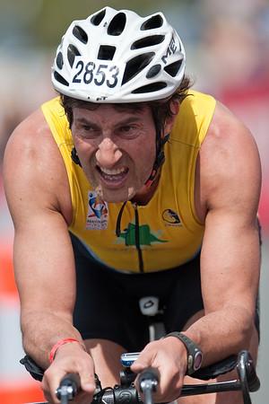 Cycle Leg - Close-up Portraits - Noosa Triathlon, Noosa Heads, Sunshine Coast, Queensland, Australia; 31 October 2010.