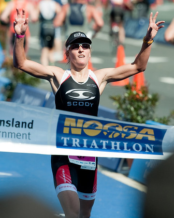 Women's Winner Melissa Rollison - 2011 Noosa Triathlon, Noosa Heads, Sunshine Coast, Queensland, Australia; 30 October 2011.