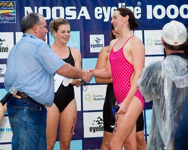 Michelle Gorman, Sarah Kime, Danielle Defrancesco - 2011 Noosa Ocean Swim, Main Beach, Noosa Heads, Sunshine Coast, Queensland, Australia.