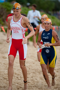 Line Jensen - 2011 Mooloolaba ITU World Cup Triathlon - Women. Mooloolaba Triathlon Festival, Sunday 27 March 2011, Sunshine Coast, Queensland, Australia. Photos by Des Thureson:  http://disci.smugmug.com.