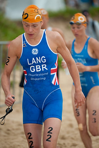 Kerry Lang - 2011 Mooloolaba ITU World Cup Triathlon - Women. Mooloolaba Triathlon Festival, Sunday 27 March 2011, Sunshine Coast, Queensland, Australia. Photos by Des Thureson:  http://disci.smugmug.com.