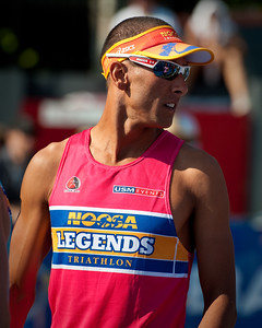 Twice Hawaii Ironman Triathlon World Champion Chis McCormack - 2011 Noosa Legends Triathlon - Super Saturday at the Noosa Triathlon Multi Sport Festival, Noosa Heads, Sunshine Coast, Queensland, Australia; 29 October 2011.