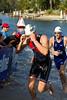 Swim Leg & First Transition (T1) - 2011 Noosa Triathlon, Noosa Heads, Sunshine Coast, Queensland, Australia; 30 October 2011.
