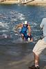 Courtney Atkinson - Swim Leg & First Transition (T1) - 2011 Noosa Triathlon, Noosa Heads, Sunshine Coast, Queensland, Australia; 30 October 2011.
