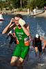 Ben Shaw - Swim Leg & First Transition (T1) - 2011 Noosa Triathlon, Noosa Heads, Sunshine Coast, Queensland, Australia; 30 October 2011.