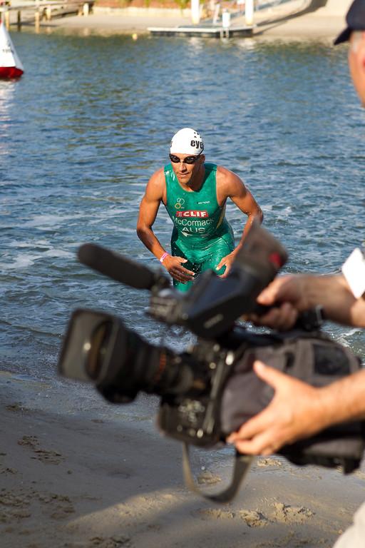 Chris McCormack - Swim Leg & First Transition (T1) - 2011 Noosa Triathlon, Noosa Heads, Sunshine Coast, Queensland, Australia; 30 October 2011.