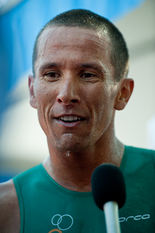 Interview: Chris McCormack - 2011 Noosa Triathlon, Noosa Heads, Sunshine Coast, Queensland, Australia; 30 October 2011.