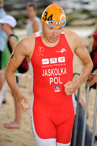 Marek Jaskolka, 2012 Subaru Mooloolaba Men's ITU Triathlon World Cup; Mooloolaba, Sunshine Coast, Queensland, Australia; 24 March 2012. Photos by Des Thureson - disci.smugmug.com.
