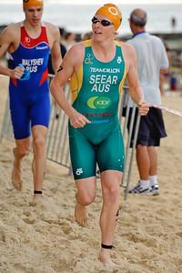 "James Seear (""Jimmy Seear"") - 2012 Subaru Mooloolaba Men's ITU Triathlon World Cup; Mooloolaba, Sunshine Coast, Queensland, Australia; 24 March 2012. Photos by Des Thureson - disci.smugmug.com."