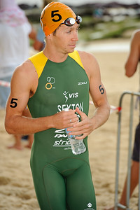 Last year's runner-up, Brendan Sexton - 2012 Subaru Mooloolaba Men's ITU Triathlon World Cup; Mooloolaba, Sunshine Coast, Queensland, Australia; 24 March 2012. Photos by Des Thureson - disci.smugmug.com.