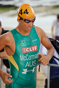 "Two times Hawaii Ironman World Champion Chris McCormack (""Macca"") - 2012 Subaru Mooloolaba Men's ITU Triathlon World Cup; Mooloolaba, Sunshine Coast, Queensland, Australia; 24 March 2012. Photos by Des Thureson - disci.smugmug.com."