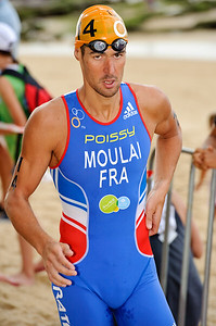 Tony Moulai, 2012 Subaru Mooloolaba Men's ITU Triathlon World Cup; Mooloolaba, Sunshine Coast, Queensland, Australia; 24 March 2012. Photos by Des Thureson - disci.smugmug.com.