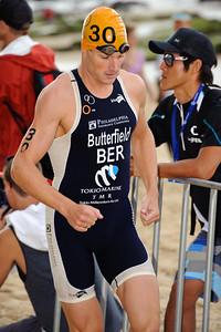 Tyler Butterfield, 2012 Subaru Mooloolaba Men's ITU Triathlon World Cup; Mooloolaba, Sunshine Coast, Queensland, Australia; 24 March 2012. Photos by Des Thureson - disci.smugmug.com.