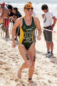 Charlotte McShane - 2012 Subaru Mooloolaba Women's ITU Triathlon World Cup; Mooloolaba, Sunshine Coast, Queensland, Australia; 25 March 2012. Photos by Des Thureson - disci.smugmug.com.