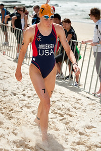 Gwen Jorgensen - 2012 Subaru Mooloolaba Women's ITU Triathlon World Cup; Mooloolaba, Sunshine Coast, Queensland, Australia; 25 March 2012. Photos by Des Thureson - disci.smugmug.com.