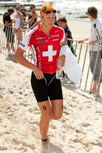 Nicola Spirig - 2012 Subaru Mooloolaba Women's ITU Triathlon World Cup; Mooloolaba, Sunshine Coast, Queensland, Australia; 25 March 2012. Photos by Des Thureson - disci.smugmug.com.