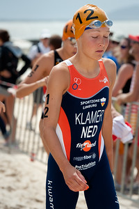 Bright young Dutch Star Rachel Klamer - 2012 Subaru Mooloolaba Women's ITU Triathlon World Cup; Mooloolaba, Sunshine Coast, Queensland, Australia; 25 March 2012. Photos by Des Thureson - disci.smugmug.com.