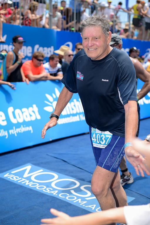 Approaching the Finish Line - Run Leg  - 2012 Noosa Triathlon, Noosa Heads, Sunshine Coast, Queensland, Australia; 4 November 2012. Photos by Des Thureson. Camera 1.