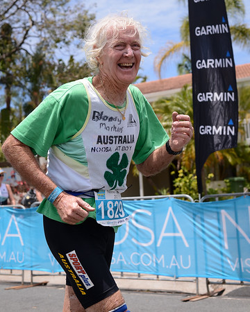80 Year Old Markus Hanley - Run Leg - 2012 Noosa Triathlon, Noosa Heads, Sunshine Coast, Queensland, Australia; 4 November 2012. Photos by Des Thureson. Camera 1.