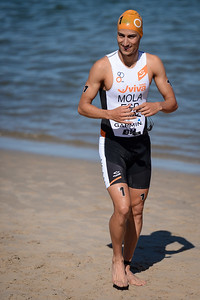 Mario Mola - Subaru Mooloolaba Men's ITU Triathlon World Cup - Mooloolaba Multi Sport Festival Super Saturday, 15 March 2014 - Mooloolaba, Sunshine Coast, Queensland, Australia. Photos by Des Thureson - http://disci.smugmug.com - Camera 1.