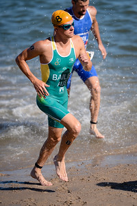 Ryan Bailie - Subaru Mooloolaba Men's ITU Triathlon World Cup - Mooloolaba Multi Sport Festival Super Saturday, 15 March 2014 - Mooloolaba, Sunshine Coast, Queensland, Australia. Photos by Des Thureson - http://disci.smugmug.com - Camera 1.