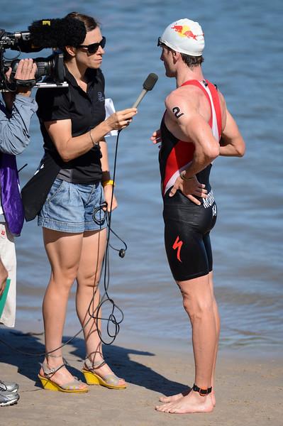 "Richard Murray - Subaru Mooloolaba Men's ITU Triathlon World Cup - Mooloolaba Multi Sport Festival Super Saturday, 15 March 2014 - Mooloolaba, Sunshine Coast, Queensland, Australia. Photos by Des Thureson - <a href=""http://disci.smugmug.com"">http://disci.smugmug.com</a> - Camera 1."