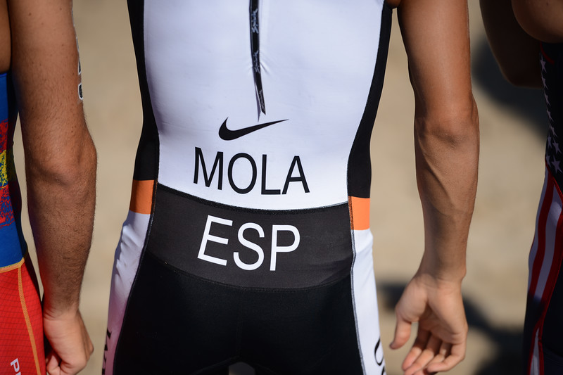 "Mario Mola - Subaru Mooloolaba Men's ITU Triathlon World Cup - Mooloolaba Multi Sport Festival Super Saturday, 15 March 2014 - Mooloolaba, Sunshine Coast, Queensland, Australia. Photos by Des Thureson - <a href=""http://disci.smugmug.com"">http://disci.smugmug.com</a> - Camera 1."
