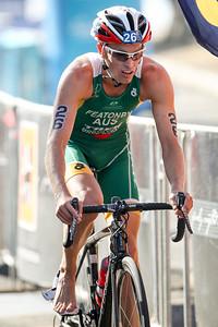 Jesse Featonby - Subaru Mooloolaba Men's ITU Triathlon World Cup - Mooloolaba Multi Sport Festival Super Saturday, 15 March 2014. Camera 2 - Mooloolaba, Sunshine Coast, Queensland, Australia. Photos by Des Thureson - http://disci.smugmug.com
