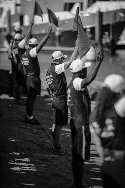 "Alternate Processing: ""B&W Look 4"" - Race Start / Swim Start - Subaru Mooloolaba Men's ITU Triathlon World Cup - Mooloolaba Multi Sport Festival Super Saturday, 15 March 2014 - Mooloolaba, Sunshine Coast, Queensland, Australia. Photos by Des Thureson - <a href=""http://disci.smugmug.com"">http://disci.smugmug.com</a> - Camera 1."