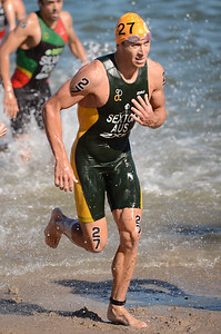 Brendan Sexton - Subaru Mooloolaba Men's ITU Triathlon World Cup - Mooloolaba Multi Sport Festival Super Saturday, 15 March 2014 - Mooloolaba, Sunshine Coast, Queensland, Australia. Photos by Des Thureson - http://disci.smugmug.com - Camera 1.