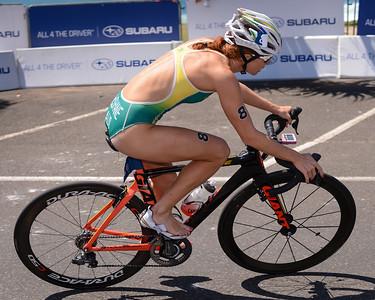 Charlotte McShane - Subaru Mooloolaba Women's ITU Triathlon World Cup - Mooloolaba Multi Sport Festival Super Saturday, 15 March 2014 - Mooloolaba, Sunshine Coast, Queensland, Australia. Photos by Des Thureson - http://disci.smugmug.com - Camera 1.