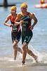 "Anel Radford, Rachel Klamer - Subaru Mooloolaba Women's ITU Triathlon World Cup -  Mooloolaba Multi Sport Festival Super Saturday, 15 March 2014. Camera 2 - Mooloolaba, Sunshine Coast, Queensland, Australia. Photos by Des Thureson - <a href=""http://disci.smugmug.com"">http://disci.smugmug.com</a>"