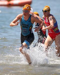 Sofie Hooghe - Subaru Mooloolaba Women's ITU Triathlon World Cup -  Mooloolaba Multi Sport Festival Super Saturday, 15 March 2014. Camera 2 - Mooloolaba, Sunshine Coast, Queensland, Australia. Photos by Des Thureson - http://disci.smugmug.com