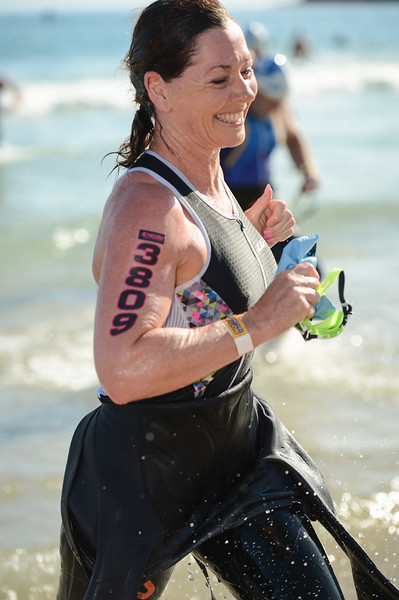 Wonderful Smile for the Camera - Swim Leg - 2015 Noosa Triathlon, Noosa Heads, Sunshine Coast, Queensland, Australia; 1 November. Camera 1. Photos by Des Thureson - disci.smugmug.com