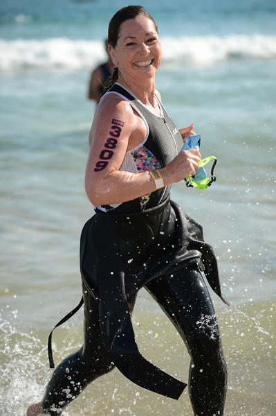 Wonderful Smile for the Camera - Swim Leg - 2015 Noosa Triathlon, Noosa Heads, Sunshine Coast, Queensland, Australia; 1 November. Camera 1. Photos by Des Thureson - disci.smugmug.com