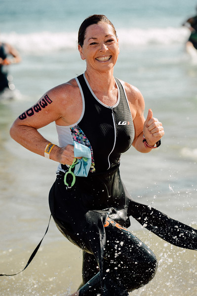 VSCO Film Preset: C - Kodak Gold 100 + Alt 2 - Wonderful Smile for the Camera - Swim Leg - 2015 Noosa Triathlon, Noosa Heads, Sunshine Coast, Queensland, Australia; 1 November. Camera 1. Photos by Des Thureson - disci.smugmug.com