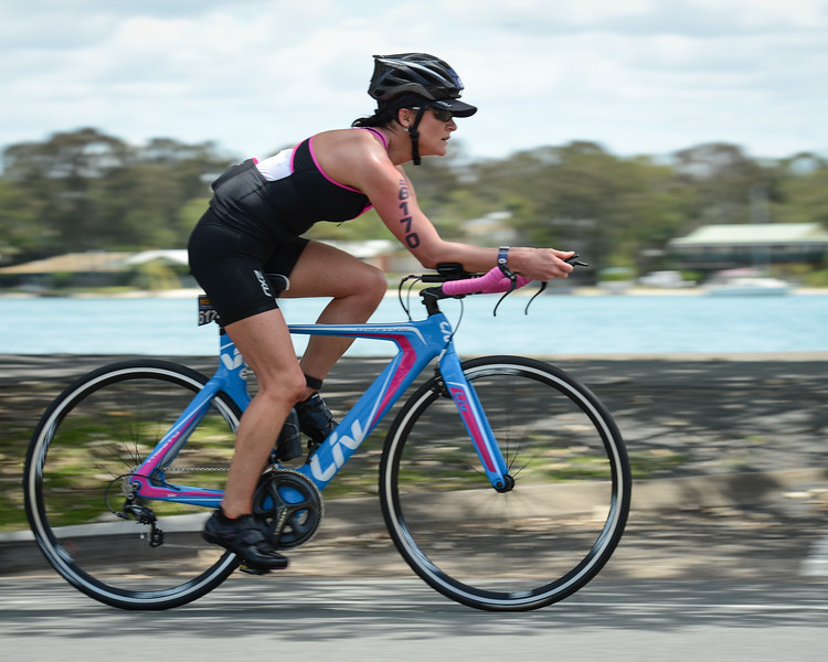 "Bike Leg - Experimenting with a ""Speed Blur"" - panning the camera whilst using a slow shutter speed - 2015 Noosa Triathlon, Noosa Heads, Sunshine Coast, Queensland, Australia; 1 November. Camera 1. Photos by Des Thureson - disci.smugmug.com"
