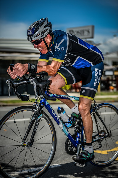 Alternate Processing: HDR Look Strong - Bike Leg - 2015 Noosa Triathlon, Noosa Heads, Sunshine Coast, Queensland, Australia; 1 November. Camera 1. Photos by Des Thureson - disci.smugmug.com