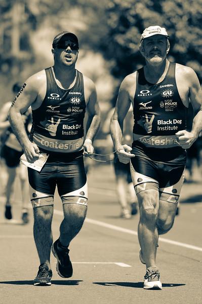 """Split Tone 1"" - Run Leg - 2016 Noosa Triathlon, Noosa Heads, Sunshine Coast, Queensland, Australia; 30 October. Camera 2. Photos by Des Thureson - disci.smugmug.com"