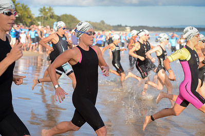 Kirralee Seidel - Swim Leg - 2016 Noosa Triathlon, Noosa Heads, Sunshine Coast, Queensland, Australia; 30 October. Camera 2. Photos by Des Thureson - disci.smugmug.com
