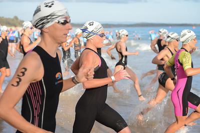 Kirralee Seidel - Swim Leg - 2016 Noosa Triathlon, Noosa Heads, Sunshine Coast, Queensland, Australia; 30 October. Camera 2. Photos by Des Thureson - disci.smugmug.com