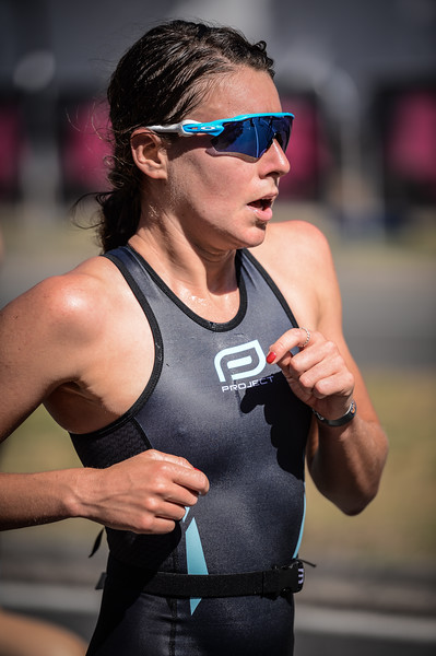 "Alternate Processing:  ""Game Day"" - Natalie Van Coevorden - Run Leg - 2016 Noosa Triathlon, Noosa Heads, Sunshine Coast, Queensland, Australia; 30 October. Camera 2. Photos by Des Thureson - disci.smugmug.com"