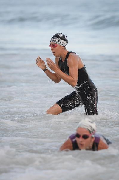 Ashleigh Gentle - Swim Leg - 2016 Noosa Triathlon, Noosa Heads, Sunshine Coast, Queensland, Australia; 30 October. Camera 2. Photos by Des Thureson - disci.smugmug.com