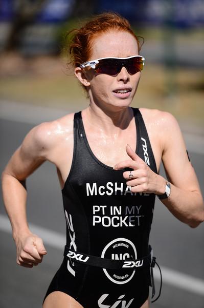 Charlotte McShane - Run Leg - 2016 Noosa Triathlon, Noosa Heads, Sunshine Coast, Queensland, Australia; 30 October. Camera 2. Photos by Des Thureson - disci.smugmug.com