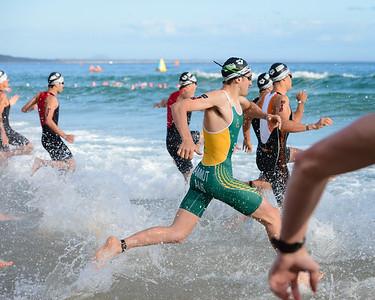 Jonathan SAMMUT - Swim Leg - 2016 Noosa Triathlon, Noosa Heads, Sunshine Coast, Queensland, Australia; 30 October. Camera 2. Photos by Des Thureson - disci.smugmug.com